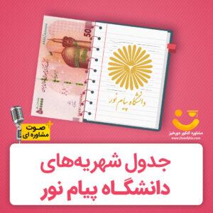میزان شهریه دانشگاه پیام نور 99-1400
